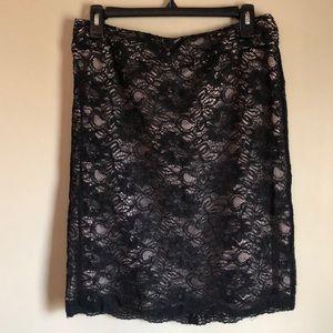 Banana Republic Black Lace Skirt EUC